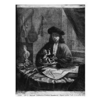 Portrait of a Young Artist, engraved by Postcard