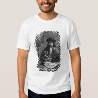 Portrait of a Young Artist, engraved by T-shirt