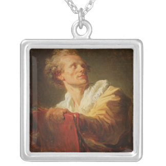 Portrait of a Young Artist Silver Plated Necklace