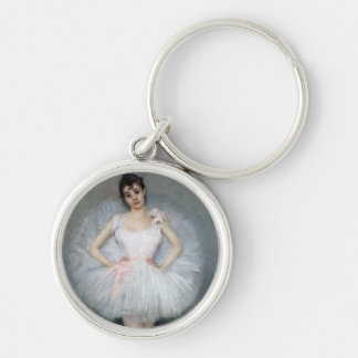 Portrait of a Young Ballerina Key Ring