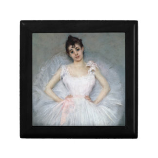 Portrait of a Young Ballerina Small Square Gift Box