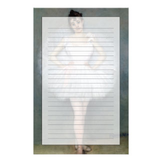 Portrait of a Young Ballerina Personalized Stationery