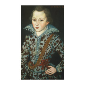 Portrait of a Young Boy, Aged Five Canvas Print