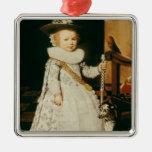 Portrait of a Young Boy Christmas Tree Ornaments