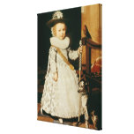 Portrait of a Young Boy Stretched Canvas Prints