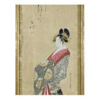 Portrait of a young courtesan postcard
