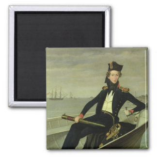 Portrait of a Young Danish Naval Officer, 1841 Square Magnet