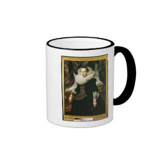 Portrait of a Young Dutch Woman Ringer Mug