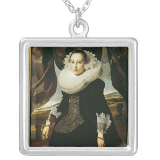 Portrait of a Young Dutch Woman Silver Plated Necklace