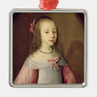 Portrait of a Young Girl, 1651 Christmas Ornament