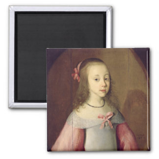 Portrait of a Young Girl, 1651 Magnet