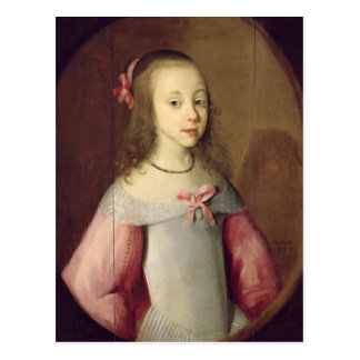 Portrait of a Young Girl, 1651 Postcard