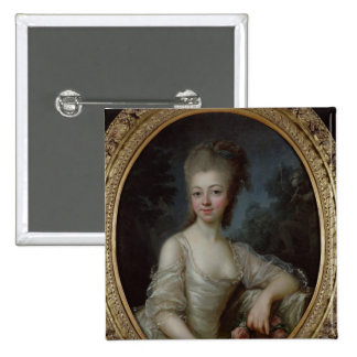 Portrait of a Young Girl, 1775 15 Cm Square Badge