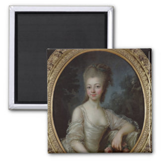 Portrait of a Young Girl, 1775 Square Magnet