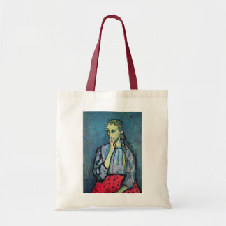 Portrait of a Young Girl Budget Tote Bag