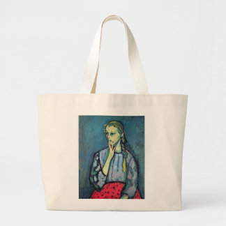 Portrait of a Young Girl Large Tote Bag