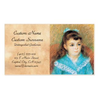 Portrait of a Young Girl Pierre Auguste Renoir art Pack Of Standard Business Cards