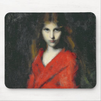 Portrait of a Young Girl, The Shiverer Mouse Pad
