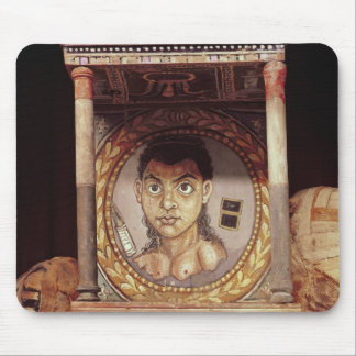 Portrait of a young girl with offerings mouse pad