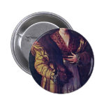 Portrait Of A Young Lady Called Anteia. Pinback Button