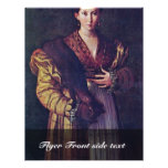 Portrait Of A Young Lady Called Anteia. Personalized Flyer