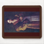 Portrait Of A Young Lady Called Anteia. Mousepad