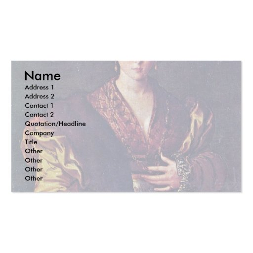 Portrait Of A Young Lady Called Anteia. Pack Of Standard Business Cards