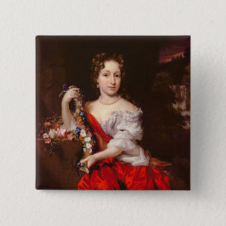 Portrait of a Young Lady (oil on canvas) 15 Cm Square Badge