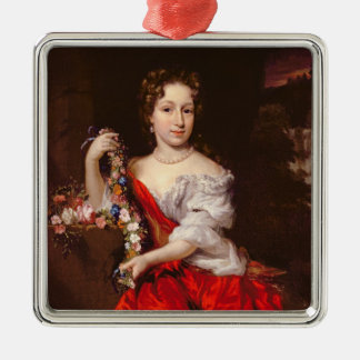 Portrait of a Young Lady (oil on canvas) Christmas Ornament