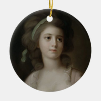 Portrait of a Young Lady (pastel on paper) Christmas Ornament
