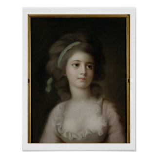 Portrait of a Young Lady (pastel on paper) Poster