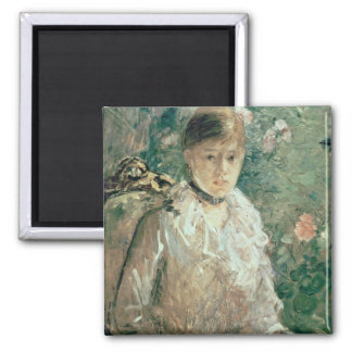 Portrait of a Young Lady Square Magnet