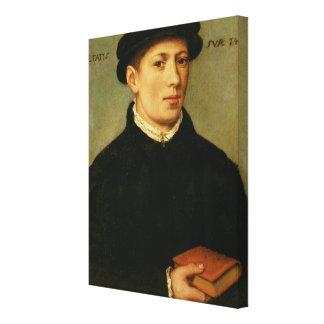Portrait of a Young Man, 1528 Canvas Print