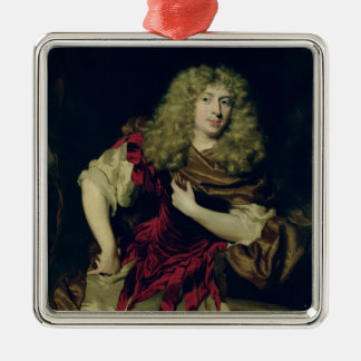 Portrait of a Young Man, 1676 Silver-Colored Square Decoration