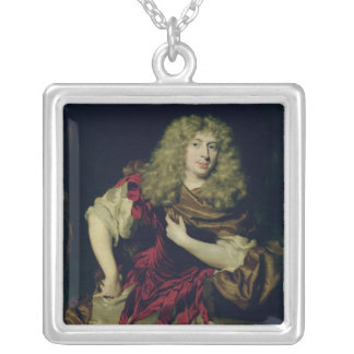 Portrait of a Young Man, 1676 Silver Plated Necklace