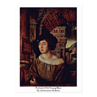 Portrait Of A Young Man By Ambrosius Holbein Postcard