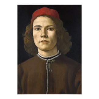 Portrait of a Young Man by Botticelli Card