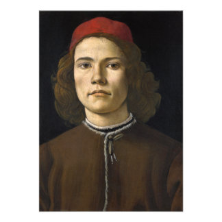 Portrait of a Young Man by Botticelli Custom Announcement