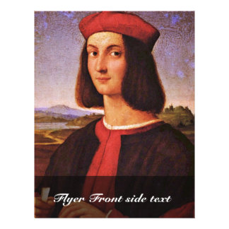 Portrait Of A Young Man By Raffael (Best Quality) Custom Flyer