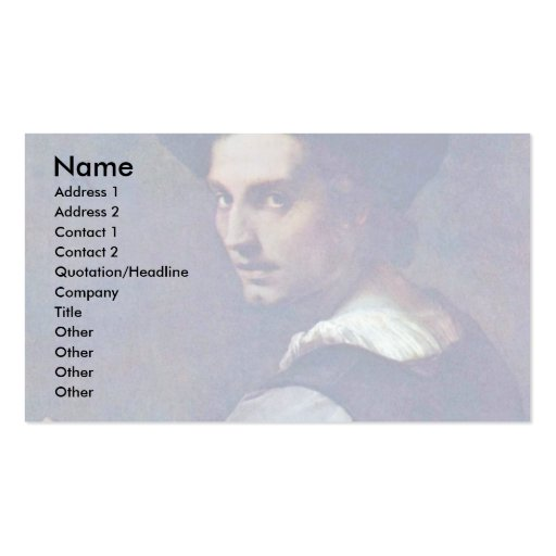 Portrait Of A Young Man By Sarto Andrea Del Business Card