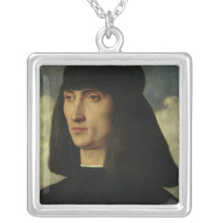 Portrait of a Young Man, c.1500 Silver Plated Necklace
