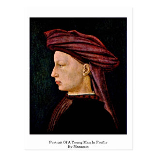 Portrait Of A Young Man In Profile By Masaccio Postcard
