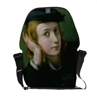Portrait of a Young Man (oil on panel) Commuter Bags