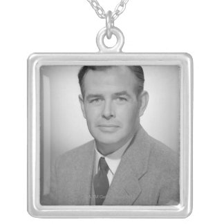 Portrait of a Young Man Silver Plated Necklace