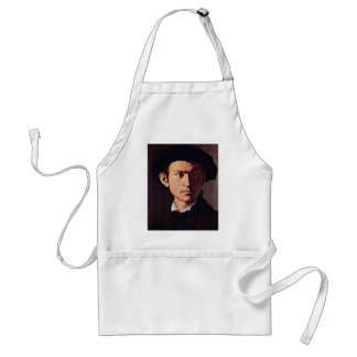 Portrait Of A Young Man With Lute Detail Apron