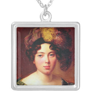 Portrait of a Young Scottish Woman Silver Plated Necklace