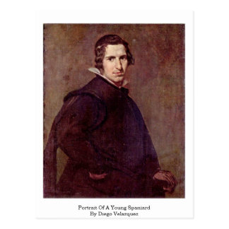 Portrait Of A Young Spaniard By Diego Velazquez Postcard