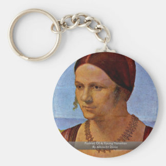 Portrait Of A Young Venetian By Albrecht Dürer Key Chains
