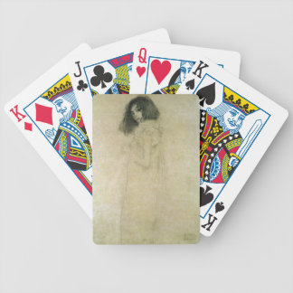 Portrait of a young woman, 1896-97 bicycle playing cards
