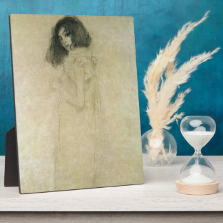 Portrait of a young woman, 1896-97 plaque